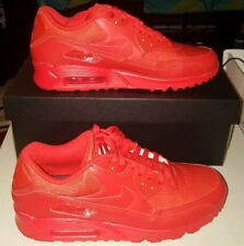 """MENS NIKE AIR MAX 90 ID ALL RED SZ 11 """"RED OCTOBER"""""""