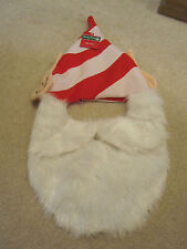Elf hat with ears and beard red Christmas holiday funny gag gift new with tags