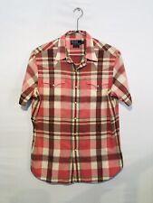 Ralph Lauren Men's Western Shirt M Medium Pearl Snaps Short Sleeve