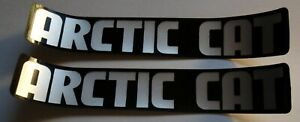 """(2) VINTAGE N.O.S. ARCTIC CAT SNOWMOBILE DECALS RARE NEW 1"""" X 6"""""""