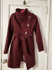 guess wool coat size xs color purple