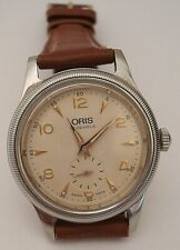 VINTAGE GOOD 1990'S GENTS ORIS HAND WOUND STAINLESS STEEL MODEL 7428 DRESS WATCH