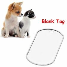 2 Pcs Army Engraved Steel Stainless Anti-lost ID Name Pendant Pet Tag for Blank
