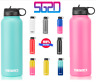 Hydro Stainless Steel 18 32 40 oz  Water Bottle Flask Insulated Wide Mouth Lid