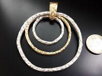 De 1 A 15 Colgante Alta calidad Zamak ARO DORADO Y PLATEADO (ARO-54) collar