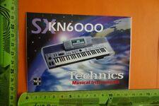 Alter Aufkleber Musik Instrumente SX KN 6000 TECHNICS