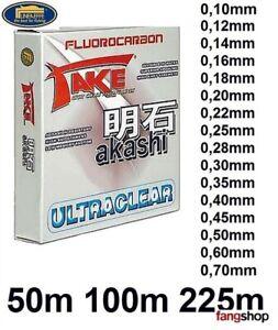 Take Akashi Fluorocarbon Fluocarbon 50m 100m 225m 0,10 - 0,60mm fast unsichtbar