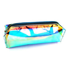 Transparent pencil Case Cosmetics Makeup Bag Holographic Hologram Metallic Color