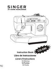 SINGER CG-590 Commercial Grade * INSTRUCTION Manual, WORKBOOK & Parts list on CD