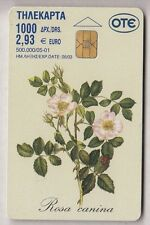 EUROPE  TELECARTE / PHONECARD .. GRECE 2€93 FLEUR FLOWER ROSE 05/01 CHIP/PUCE