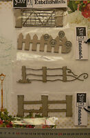CHIPBOARD Die Cut Outs - Assorted GATES & FENCES - 4 Style Choice - Scrap FX G