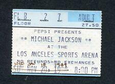 Original 1989 Michael Jackson concert ticket stub Sports Arena LA Bad Tour