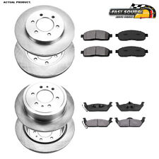 Front+Rear Rotors Metallic Pads For 2004 2005 2006 2007 2008 Ford F150 4X4 4WD