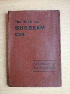The12/30 HP Sunbeam Motor Car  Manual 1st Edition