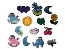Embroidered iron or sew on patch clothes motif applique embroidery baby badge