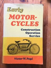 PB Early Motor-Cycles Construction Operation Service Victor W Page Post Motor Bk