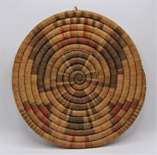 New ListingAntique Native American Basket Hopi Kachina Corn Maiden Coil Multicolor Anilines