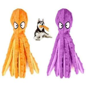 8 Legs Octopus Stuffed Plush Squeaky Dog Squeakers Sounder Toys Soft P4X2