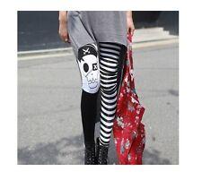 Pantalons femme leggings blanc noir leggings stretch 2052