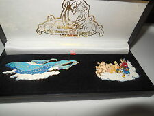DISNEYLAND 45TH PARADE 2 LARGE FLOAT  PINS  SET NEW IN  BOX L/E 5000 !!!!!