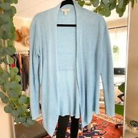 EILEEN FISHER AQUA Open-Front Cardigan Women's size Medium casual lightweight