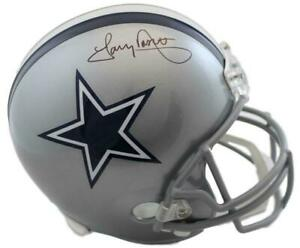 Tony Dorsett Autographed/Signed Dallas Cowboys Replica Helmet JSA 14873