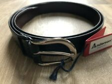"""BNWT - Anderson's belt - Grained Black Leather 40"""" / 105 - RRP £90"""