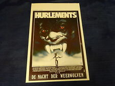 ORIGINAL MOVIE POSTER / AFFICHE CINEMA - HURLEMENTS