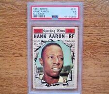 1961 Topps PSA 5 EX #577 Hank Aaron All Star Milwaukee Braves