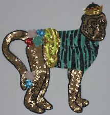 """Multicolored """"Crowned Monkey"""": Sequin Patch"""