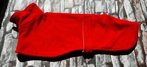 Whippet dog fleece coat 23inch 58cm red  double layer