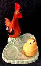 """Clarice Cliff Bizarre rare """"Hen and Chick Part Cruet Set"""