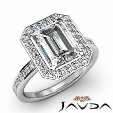 Classic Emerald Diamond Engagement Ring GIA I Color SI1 14k White Gold 1.5 ct