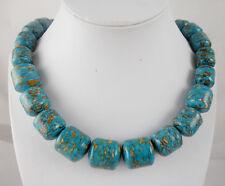 Beautiful Natural turquoise Handmade Gemstone Jewellery Necklace  TN2