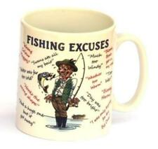 Fishing Excuses full colour pottery fishermans Gift Mug NEW CLEARANCE