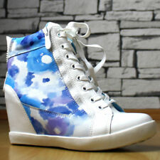 High Heels WEDGE  SNEAKERS TRAINERS COLOURS !Silver#White#Blue+Pink+@#@#%%%%