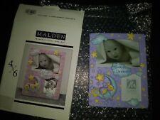 Malden International Designs Photo Frame Baby Sweet Dreams purple stars / monkey