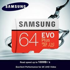 SAMSUNG Micro SD carte 64 GB u3 Carte Mémoire EVO Plus 64 GB Class10 TF Carte C1