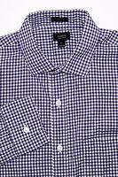 J. Crew Ludlow Men's Button Front Shirt Purple Gingham Check size Medium 2-Ply
