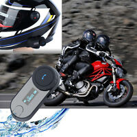 Motorcycle Bluetooth Wireless Intercom Headset BT Helmet Communication Kit Radio