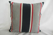 Lannoy Navy, Red and White Stripe Cushion Cover