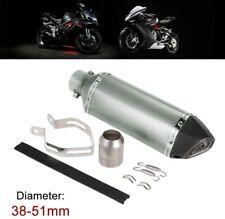 Tuyau Pot d'Echappement Silencieux Oblique Universel pour Moto Scooter Spor Noir