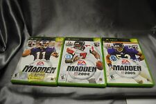 Three Xbox game lot of 3 Football Madden Bundle Wholesale Deal US seller BIN $10