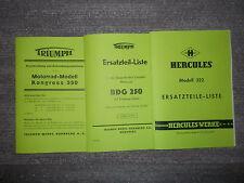 Beschreibung Triumph Krad Kongress 350 & ETL Triumph BDG 250 & Herkules 322