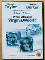 Who's Afraid of Virginia Woolf DVD Drama w/ Elizabeth Taylor + Richard Burton