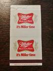 Vintage Box Matchcover: Miller High Life Beer, It's Miller Time  BX
