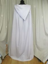 LARGE WHITE  HOODED CAPE/CLOAK HALLOWEEN - GANDOLPH -FANCY DRESS UK MADE