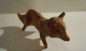 Lineol Elastolin Fuchs gehend um 1925 von Tipple Topple Masse Tiere Sammlerstück