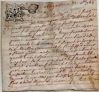 1749 Dauphiné parchemin Vélin St-Pierre-de-Méaroz ANDRE, Quet-en-Beaumont ACHARD