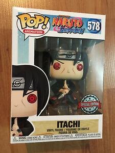 Funko Pop! Naruto Shippuden Itachi Uchiha #578 AE Exclusive + Protector *IN HAND